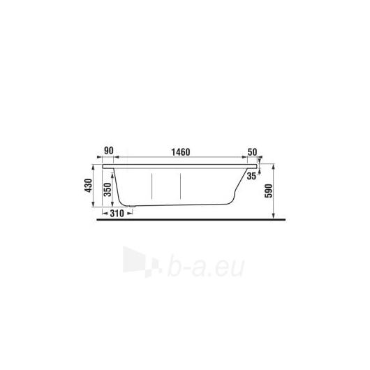 Jika Tigo vonia 160x80/70 montavimui su uždengimu L/R Paveikslėlis 4 iš 5 270716000781
