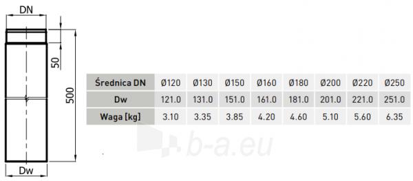 JM RP vamzdis 130/500-CZ2 (ML) pilkas Paveikslėlis 2 iš 2 310820161646