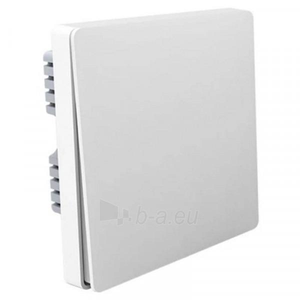 Jungiklis viengubas Aqara Wireless Wall Switch Single Key white Paveikslėlis 1 iš 2 310820216114