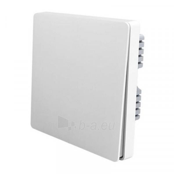 Jungiklis viengubas Aqara Wireless Wall Switch Single Key white Paveikslėlis 2 iš 2 310820216114