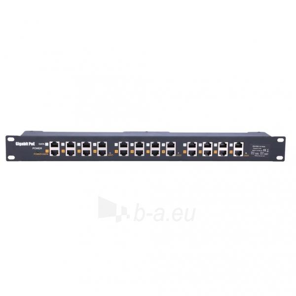 Kabelis EXTRALINK 12 Port Passive or 802.3af/at PoE Injector 1 GbE 18v~57v DC Rack 19 Paveikslėlis 1 iš 3 310820094449