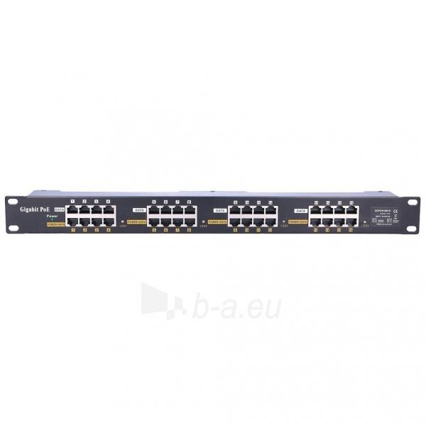 Kabelis EXTRALINK 16 Port Passive or 802.3af/at PoE Injector 1 GbE 18v~57v DC Rack 19 Paveikslėlis 1 iš 2 310820094464