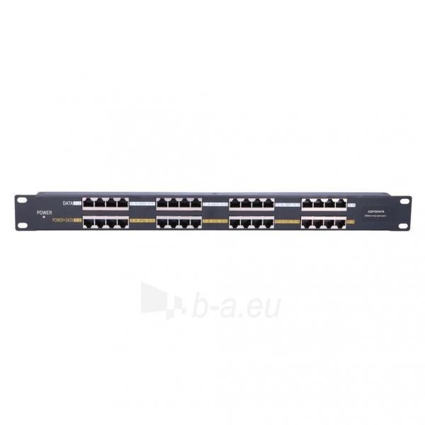 Kabelis EXTRALINK 16 Port Passive PoE Injector / Adapter 10/100Mbps 12v~48v DC Rack 19 Paveikslėlis 1 iš 3 310820094485
