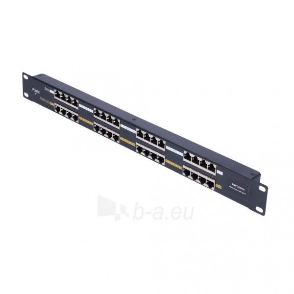 Kabelis EXTRALINK 16 Port Passive PoE Injector / Adapter 10/100Mbps 12v~48v DC Rack 19 Paveikslėlis 3 iš 3 310820094485