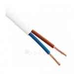 Kabelis OMYp 2x1mm2, varinis lankstus plokščias baltas (BVV-PLL) (M), 100m Paveikslėlis 1 iš 1 222822000226