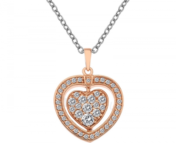 neck jewelry Hot Diamonds Stříbrný Hot Diamonds Turning Heart Rose Gold DP607 Paveikslėlis 1 iš 8 310820001723