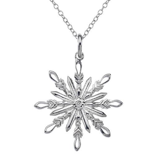 neck jewelry Hot Diamonds Stříbrný Hot Diamonds Winter Wonderland Snowflake DP382 Paveikslėlis 1 iš 1 310820000991