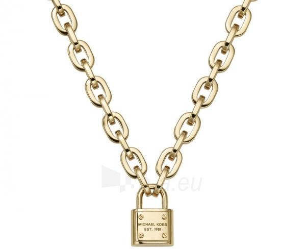 neck jewelry Michael Kors Masivní pozlacený náhrdelník se zámkem MKJ3325710 Paveikslėlis 1 iš 2 30070303358