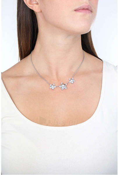 Kaklo papuošalas Morellato Steel necklace with flowers SAJR01 Paveikslėlis 2 iš 3 310820125521