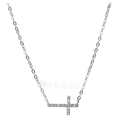 Kaklo papuošalas Selilya Silver Stříbrný náhrdelník SNJ09 Paveikslėlis 1 iš 1 310820000656