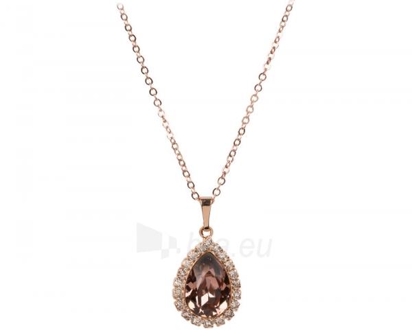 Kaklo papuošalas Troli Bronzový štrasový náhrdelník Pear Blush Rose Paveikslėlis 1 iš 1 310820000876