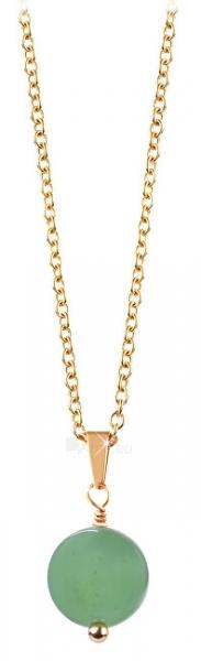 Kaklo papuošalas Troli Gold-plated necklace with green avanturine Paveikslėlis 1 iš 6 310820204398