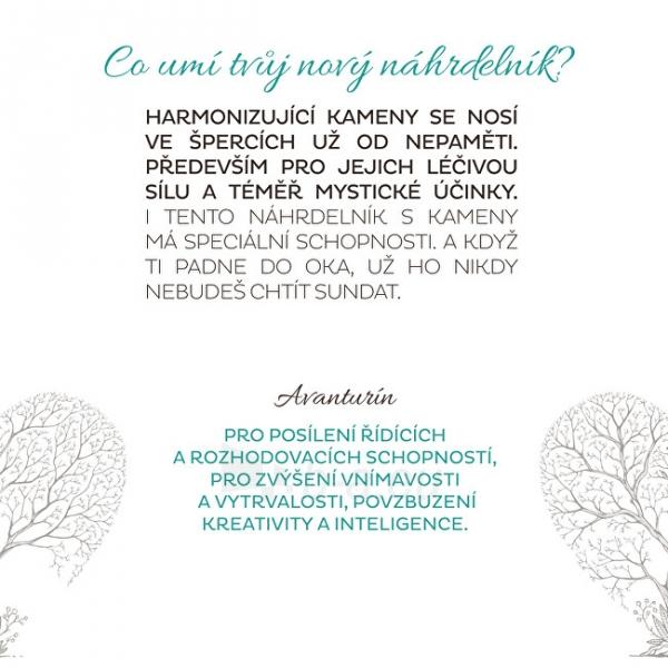 Kaklo papuošalas Troli Gold-plated necklace with green avanturine Paveikslėlis 2 iš 6 310820204398