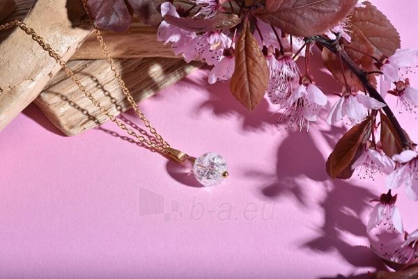 Kaklo papuošalas Troli Gold-plated necklace with green avanturine Paveikslėlis 5 iš 6 310820204398