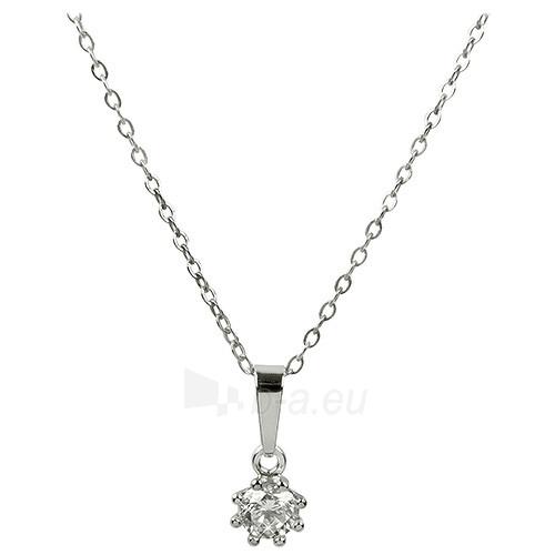 Kaklo papuošalas Troli Stříbrný náhrdelník s krystalem 446 001 00232 04 Paveikslėlis 1 iš 1 310820000808
