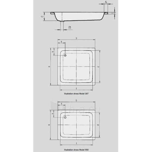 Kaldewei Sanidusch dušo padėklas 80x80 Paveikslėlis 3 iš 3 270780000159