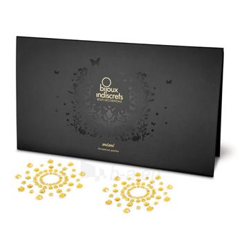 Kalnų krištolo spenelių apvadėliai Bijoux Indiscrets - Mi Mi Nipple Covers Auksiniai Paveikslėlis 1 iš 1 310820025949