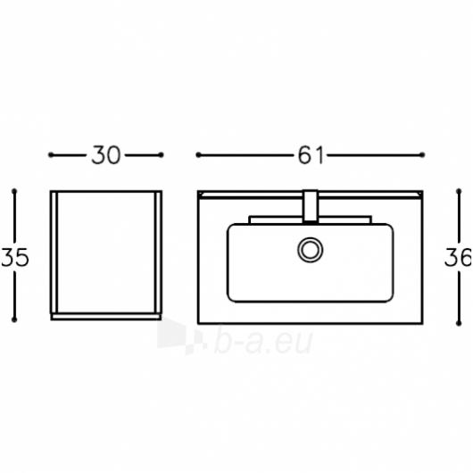 Kamė baldų komplektas Piccolo 60 Paveikslėlis 5 iš 5 270717001008