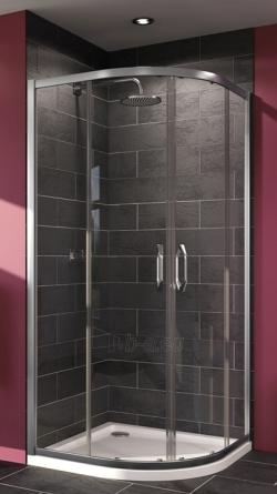 Kampas dušo Huppe X1 90x90cm, sidabras/persišviečiantis stiklas Paveikslėlis 1 iš 4 270730000992