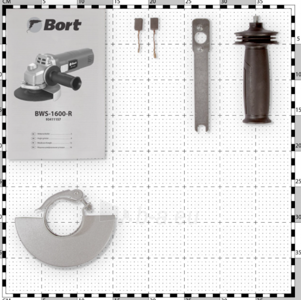Kampinis šlifuoklis BORT BWS-1600-R, 1600W, 125mm Paveikslėlis 4 iš 5 310820241030