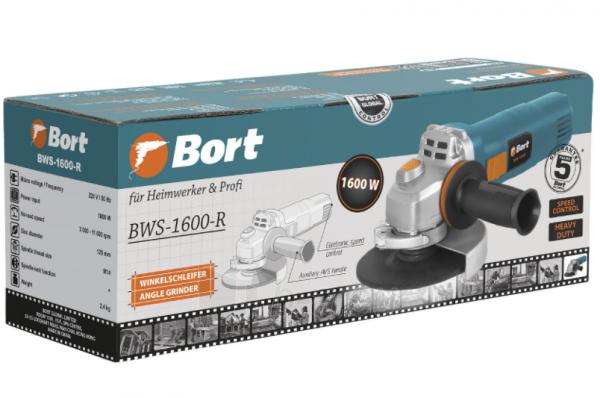 Kampinis šlifuoklis BORT BWS-1600-R, 1600W, 125mm Paveikslėlis 5 iš 5 310820241030