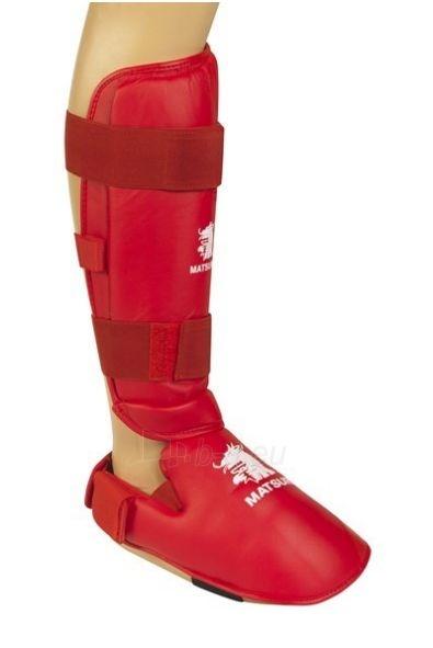 Karate apsauga blauzdai ir pėdai MATSURU WKF patvirtinta raudona Paveikslėlis 1 iš 1 310820180505