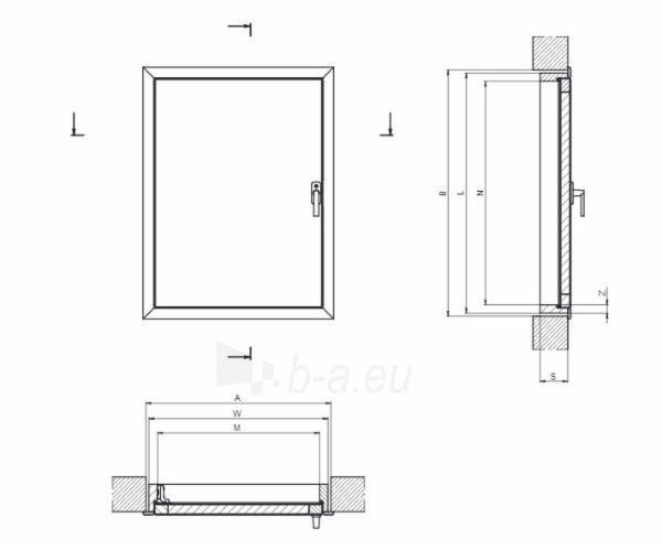 Karnizinės durys DWK 70x110 cm. Paveikslėlis 4 iš 4 310820038430