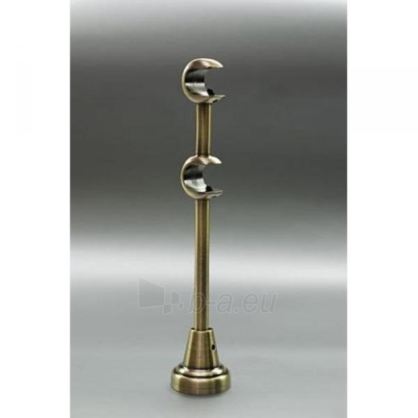 Karnizo laikiklis L20 GRAL 16 mm šv.send.auksas dvigubas Paveikslėlis 1 iš 1 310820062370
