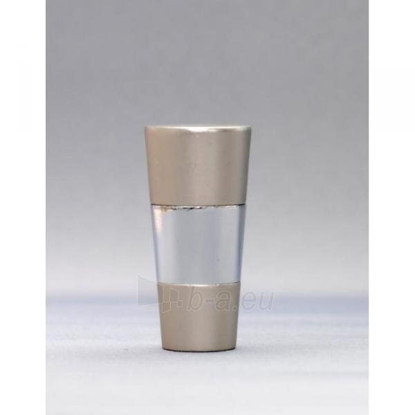 Karnizo užbaigimo detalė VALEO 16mm matinio sidabro Paveikslėlis 1 iš 1 310820062392