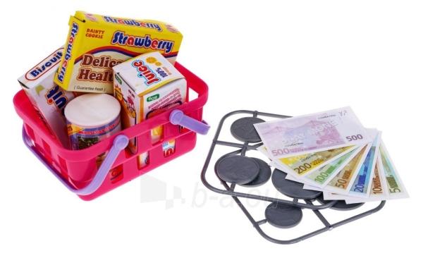 Kasos aparatas su krepšeliu ir kitais priedais, Rožinis Paveikslėlis 3 iš 7 310820252677
