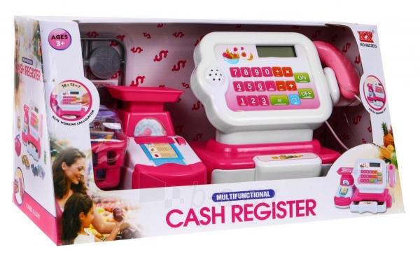 Kasos aparatas su krepšeliu ir kitais priedais, Rožinis Paveikslėlis 7 iš 7 310820252677