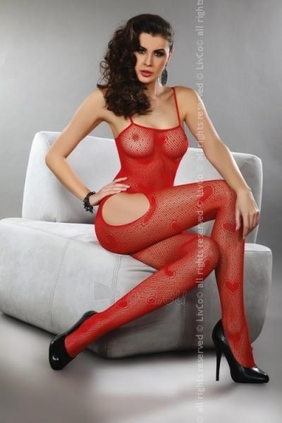 Katės kostiumas Titiana (raudonas) S/L Paveikslėlis 1 iš 2 25140808000577