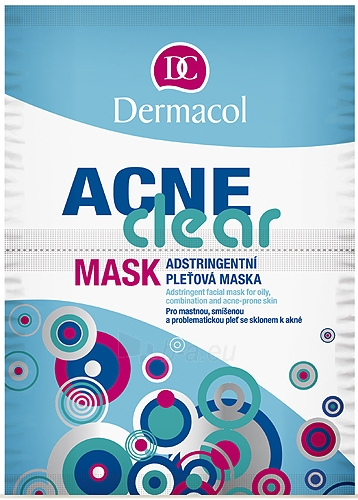 Mask Dermacol Dermaclear Mask Cosmetic 16g Paveikslėlis 1 iš 1 250840500071