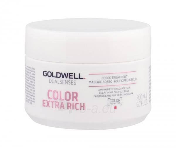 Kaukė plaukams Goldwell Dualsenses Color Extra Rich 60 Sec Treatment Cosmetic 200ml Paveikslėlis 1 iš 1 2508316000259