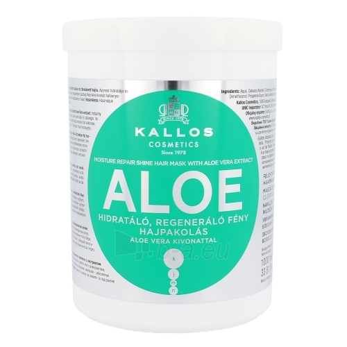 Kallos Aloe Vera Moisture Repair Shine Hair Mask Cosmetic 1000ml Paveikslėlis 1 iš 1 2508316000379