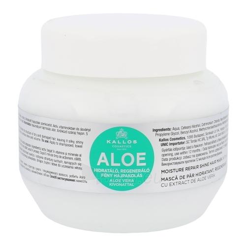 Kaukė plaukams Kallos Aloe Vera Moisture Repair Shine Hair Mask Cosmetic 275ml Paveikslėlis 1 iš 1 2508316000418