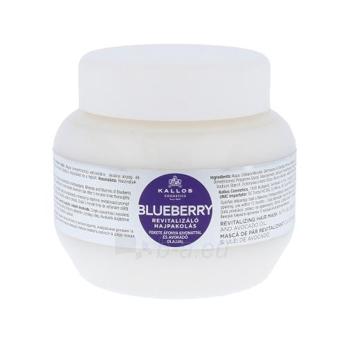 Kaukė plaukams Kallos Blueberry Hair Mask Cosmetic 275ml Paveikslėlis 1 iš 1 2508316000419