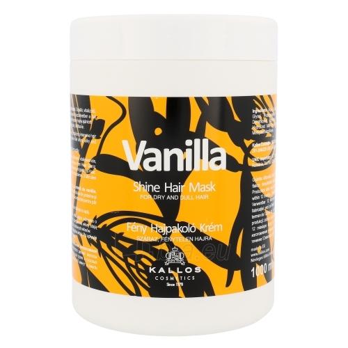 Kaukė plaukams Kallos Vanilla Shine Hair Mask Cosmetic 1000ml Paveikslėlis 1 iš 1 2508316000133