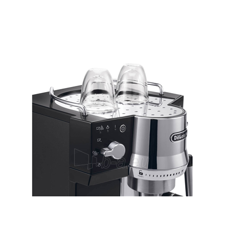 Coffee maker Delonghi Coffee maker EC 820.B Pump pressure 15 bar, Semi-automatic, 1450 W, Black Paveikslėlis 2 iš 4 310820224208