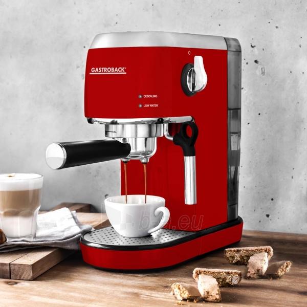 Kavos aparatas Gastroback 42719 Design Espresso Piccolo red Paveikslėlis 2 iš 7 310820229183
