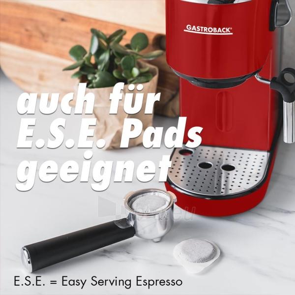 Kavos aparatas Gastroback 42719 Design Espresso Piccolo red Paveikslėlis 7 iš 7 310820229183