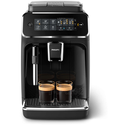 Coffee maker Philips Espresso Coffee maker EP3221/40 Pump pressure 15 bar, Built-in milk frother, Fully automatic, 1500 W, Black Paveikslėlis 2 iš 4 310820224738