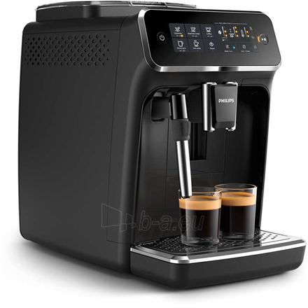 Coffee maker Philips Espresso Coffee maker EP3221/40 Pump pressure 15 bar, Built-in milk frother, Fully automatic, 1500 W, Black Paveikslėlis 3 iš 4 310820224738