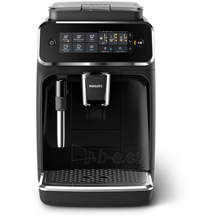 Coffee maker Philips Espresso Coffee maker EP3221/40 Pump pressure 15 bar, Built-in milk frother, Fully automatic, 1500 W, Black Paveikslėlis 4 iš 4 310820224738
