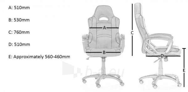 Kėdė Arozzi Enzo Gaming Chair - Blue Paveikslėlis 4 iš 4 310820074765