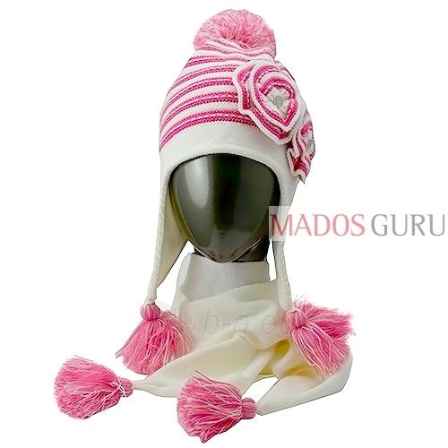 Kepurė ir šalikas mergaitei VK100 Paveikslėlis 1 iš 4 301162000151