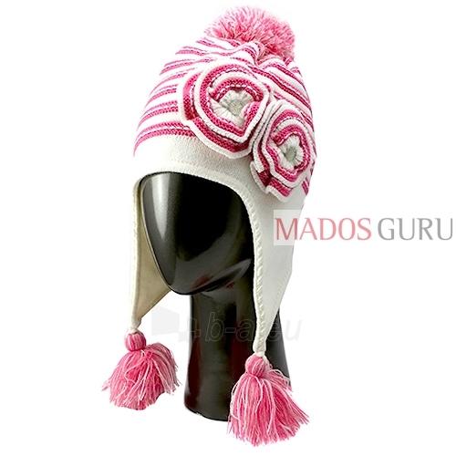 Kepurė ir šalikas mergaitei VK100 Paveikslėlis 2 iš 4 301162000151