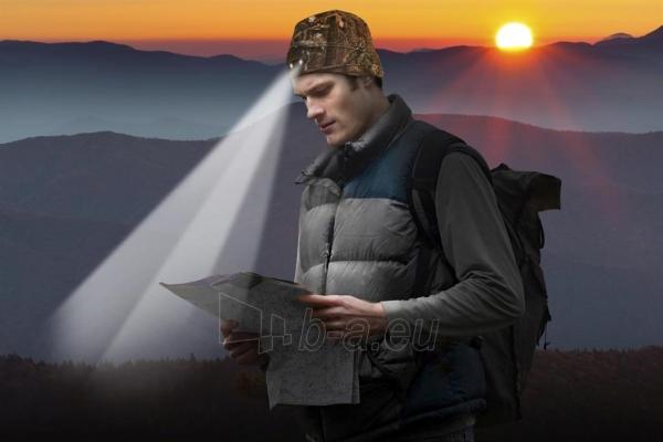 Kepurė su lemputėmis PowerNeed Sunen POWERCAP Headlamp Beanie LED, camo Paveikslėlis 5 iš 6 310820072812