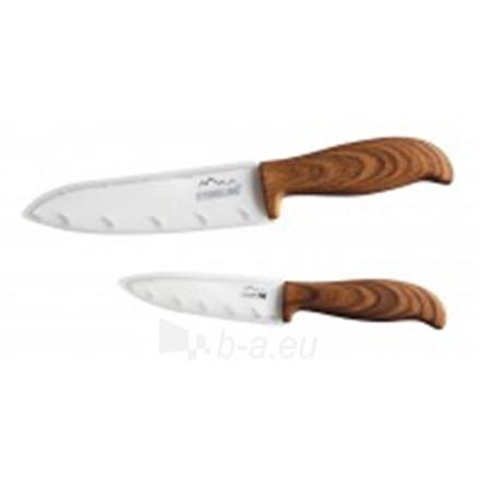 Keramikiniai peiliai Stoneline Ceramic knifes 18334 Total length approx. 21 cm and 27 cm with blade protection, Material Ceramic, plastic, 2 pc(s), White/ wooden Paveikslėlis 2 iš 2 310820111252