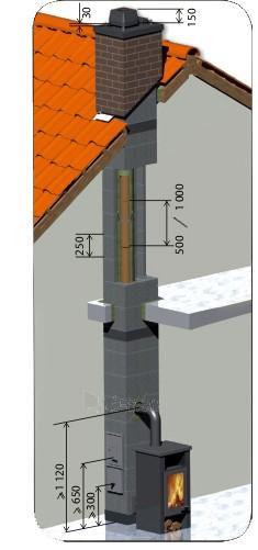 Keramikinis 2 kanalų dūmtraukis TONA Tec Iso 9m/Ø200mm+140mm Paveikslėlis 1 iš 5 310820044030